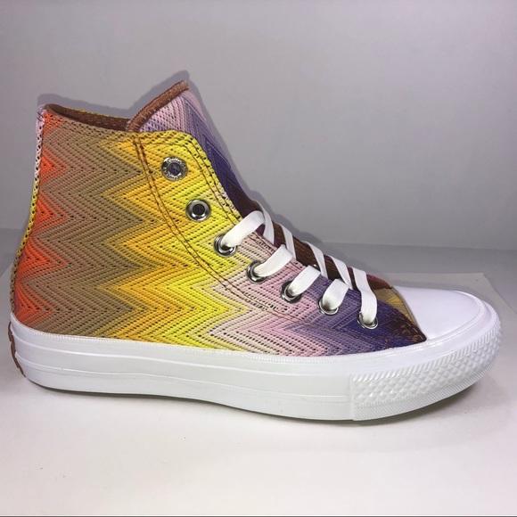 a1de6c60a840 Converse X Missoni High Line Chevron High Top Shoe